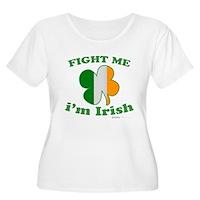 Fight Me Im Irish Clover Flag Women's Plus Size Sc
