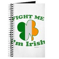 Fight Me Im Irish Clover Flag Journal