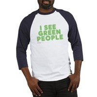 I See Green People Baseball Jersey