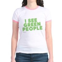 I See Green People Jr. Ringer T-Shirt