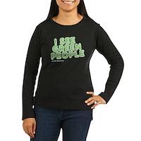 I See Green People Women's Long Sleeve Dark T-Shir