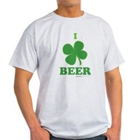 I Love Beer Clover Light T-Shirt