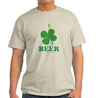 I Love Beer Clover Light T-Shirt