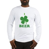 I Love Beer Clover Long Sleeve T-Shirt