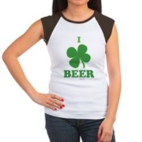 I Love Beer Clover Women's Cap Sleeve T-Shirt