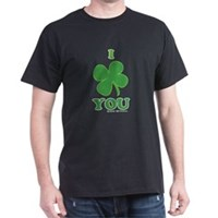 I Love You Clover Dark T-Shirt
