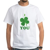I Love You Clover White T-Shirt