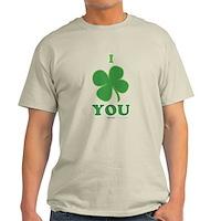 I Love You Clover Light T-Shirt