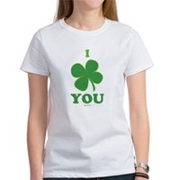 I Love You Clover Women's T-Shirt