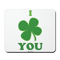I Love You Clover Mousepad