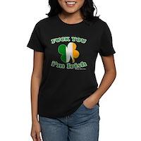 F You Im Irish Clover Flag Women's Dark T-Shirt