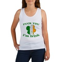 F You Im Irish Clover Flag Women's Tank Top