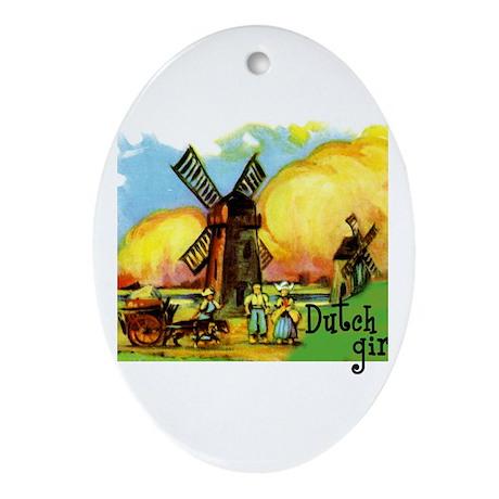 Dutch Girl Oval Ornament