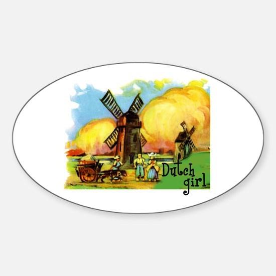 Dutch Girl Oval Decal