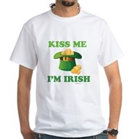 Kiss Me Im Irish White T-Shirt