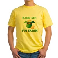 Kiss Me Im Irish Yellow T-Shirt