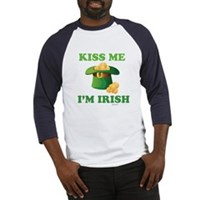 Kiss Me Im Irish Baseball Jersey