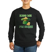 Kiss Me Im Irish Long Sleeve Dark T-Shirt