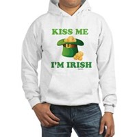 Kiss Me Im Irish Hooded Sweatshirt