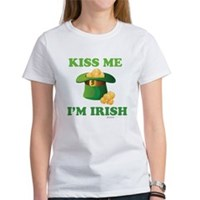 Kiss Me Im Irish Women's T-Shirt