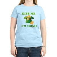 Kiss Me Im Irish Women's Light T-Shirt