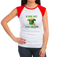 Kiss Me Im Irish Women's Cap Sleeve T-Shirt
