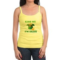 Kiss Me Im Irish Jr. Spaghetti Tank