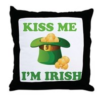 Kiss Me Im Irish Throw Pillow