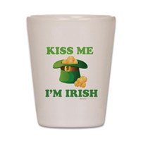 Kiss Me Im Irish Shot Glass