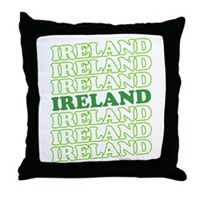 Ireland St Patrick's Day Throw Pillow