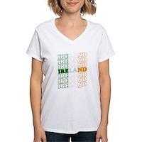 Ireland Flag Women's V-Neck T-Shirt