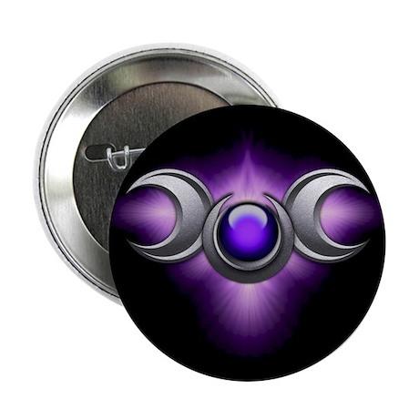"""Purple Pagan Triple Goddess 2.25"""" Button"""