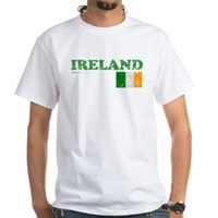 Ireland Flag White T-Shirt