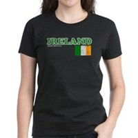 Ireland Flag Women's Dark T-Shirt