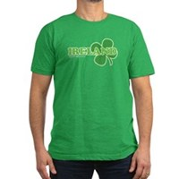 Ireland Lucky Clover Men's Fitted T-Shirt (dark)
