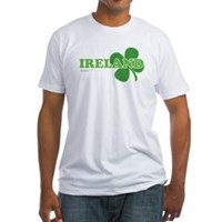 Ireland Lucky Clover Fitted T-Shirt