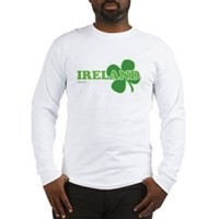 Ireland Lucky Clover Long Sleeve T-Shirt
