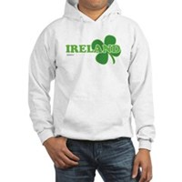 Ireland Lucky Clover Hooded Sweatshirt