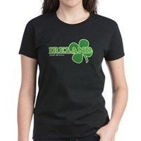 Ireland Lucky Clover Women's Dark T-Shirt