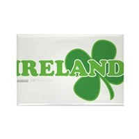Ireland Lucky Clover Rectangle Magnet