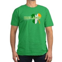Ireland Clover Flag Men's Fitted T-Shirt (dark)