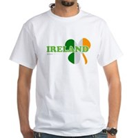 Ireland Clover Flag White T-Shirt