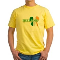 Ireland Clover Flag Yellow T-Shirt