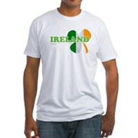 Ireland Clover Flag Fitted T-Shirt