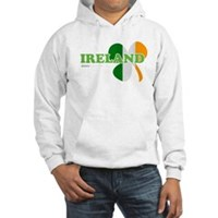 Ireland Clover Flag Hooded Sweatshirt