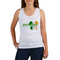 Ireland Clover Flag Women's Tank Top