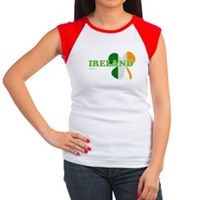 Ireland Clover Flag Women's Cap Sleeve T-Shirt