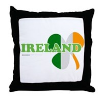 Ireland Clover Flag Throw Pillow