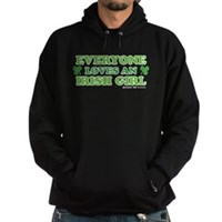 Everyone Loves An Irish Girl Hoodie (dark)