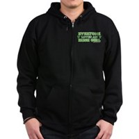Everyone Loves An Irish Girl Zip Hoodie (dark)